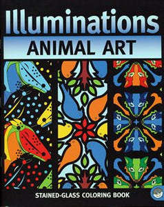 illumination animal art coloring book mindware