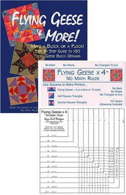 lazy girl flying geese ruler book package