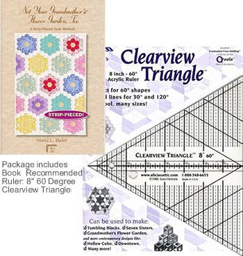 not your grandmothers flower garden book 8 in clearview ruler package