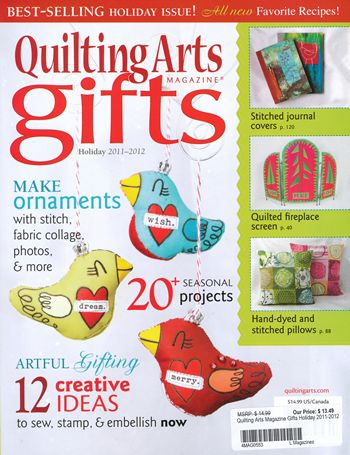 quilting arts magazine gifts holiday 2011 2012