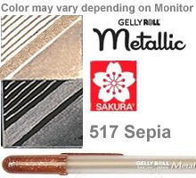 517 sepia metallic sakura gelly roll