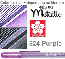 524 purple metallic sakura gelly roll