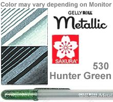 530 hunter green metallic sakura gelly roll