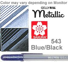 38926 blue black metallic sakura gelly roll