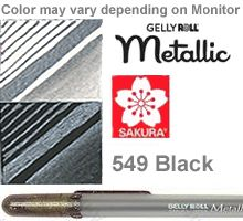 549 black metallic sakura gelly roll