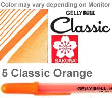 37527 orange medium sakura gelly roll pen