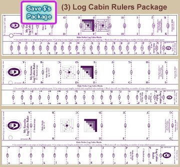 3 my favorte log cabin rulers package