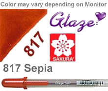 817 sepia sakura gelly roll pen