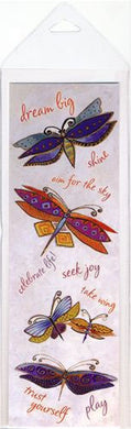 dream big drgaonflies laurel burch laminated bookmark