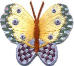 1 large butterfly thread applique