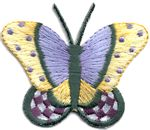 large butterfly thread applique