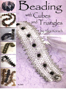 beading with cubes triangles