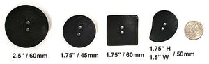 DB001 Real Black Concave Nesting Buttons,  mfg by Dill Buttons