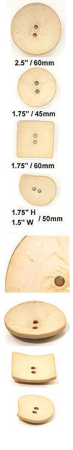 DB002 Bone Concave Nesting Buttons,  mfg. Dill Buttons