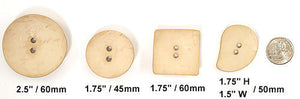 "Bone Nesting Buttons Concave 2.5"" / 60mm diameter"