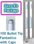 100 fantastix color tools with bullet tip and cap package