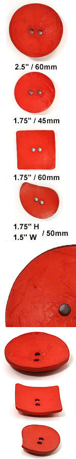 cherry red nesting buttons