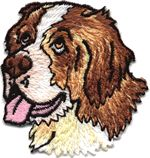 saint bernard thread applique