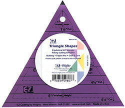 triangle colored template shape