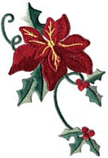 poinsetta thread applique