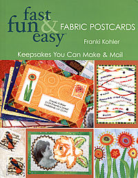 fast fun easy fabric postcard