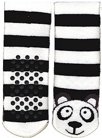 panda knee high slipper socks