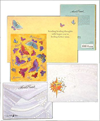 get well butterflies greeting card