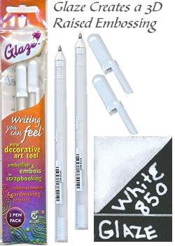 2 white glaze pen pencils