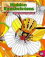 hidden exoskeletons coloring book mindware