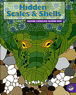 hidden scales shells coloring book mindware