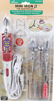 Clover Mini Iron II With Assortment of Tips