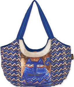 lb5362 azul scoop tote laurel burch design