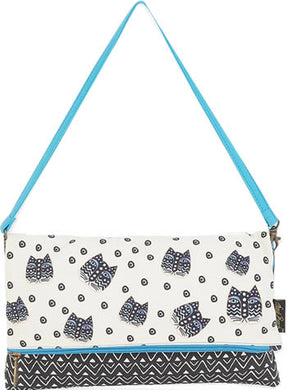 lb5750c flap clutch polka dot laurel burch design