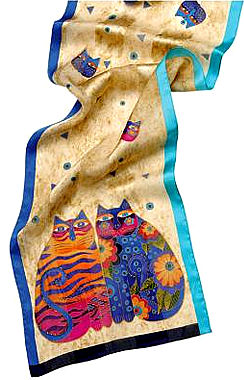 lbs157 feline whimsy scarf laurel burch
