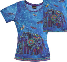 Load image into Gallery viewer, canine family laurel burch t shirt