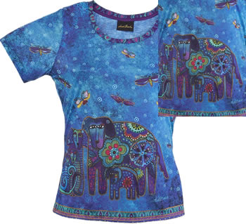 canine family laurel burch t shirt