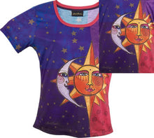 Load image into Gallery viewer, sun and moon laurel burch t shirt