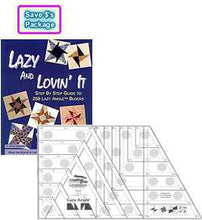Load image into Gallery viewer, lazy and lovin it package 1 lazy and lovin it book joan hawley 2 lazy angle ruler