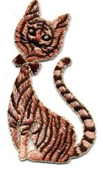 siamese tiger thread applique