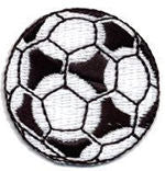 large soccer ball thread applique