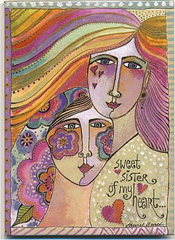 sweet sister laurel burch magnet