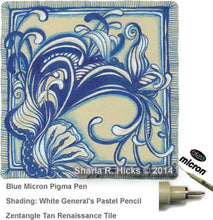 Load image into Gallery viewer, blue pigma micron fine line pen