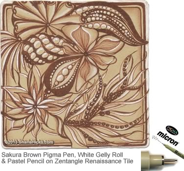 brown rusty brown pigma micron fine line pen