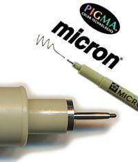 Black Pigma Micron Fine Line Pen<br>Add to Basket & Select Size 005/.20mm, 01/.25mm, 02/.30, 05/.45mm, 08/.50mm