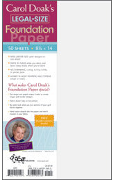 carol doaks foundation paper legal size