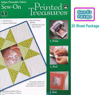 printed treasures 5 sheets