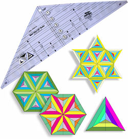triple strip 120 degree triangle non slip ruler creative grids