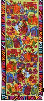 karlys cat lime scarf laurel burch