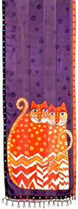 autumn felines purple scarf laurel burch