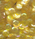 sequin yellow 6mm round